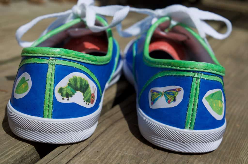 Very Hungry Caterpillar Children's Book Fashion Shoe Tutorial
