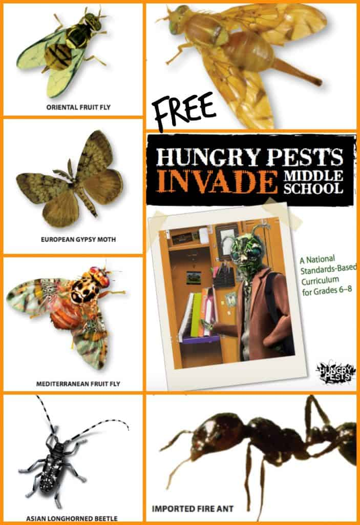 Free Hungry Pests Invade Middle School Curriculum