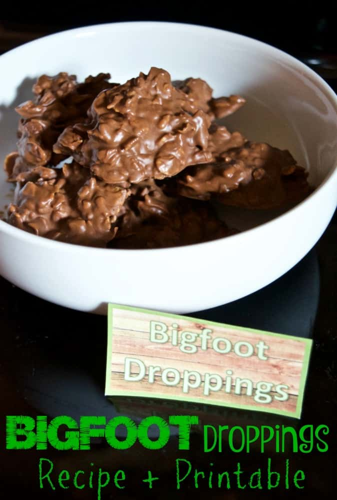 Bigfoot Droppings Recipe and Printable Cryptozoology Treat