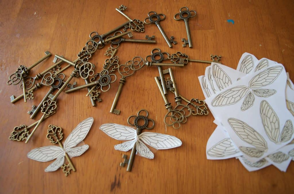 DIY Harry Potter flying keys