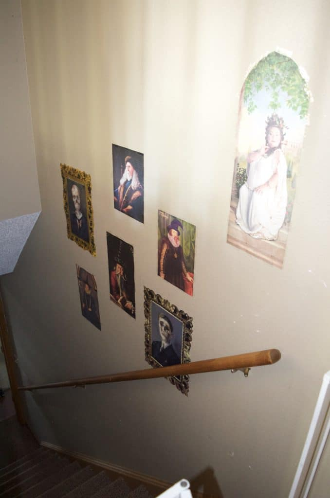 DIY Harry Potter staircase wall art