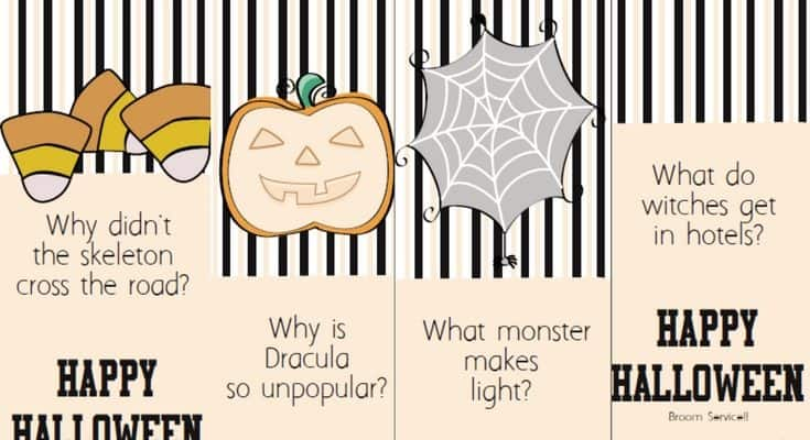 Free Printable Halloween Joke Bookmarks