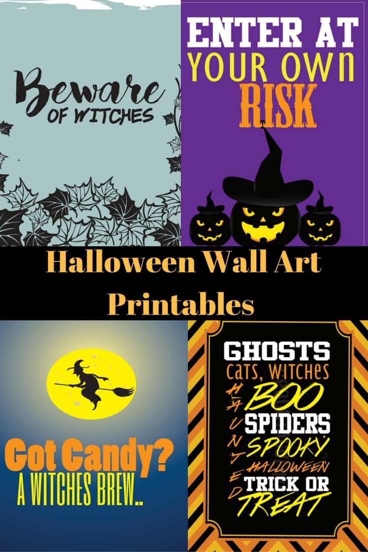 Halloween Wall Art free printable halloween wall art decor: witches, ghosts, pumpkins