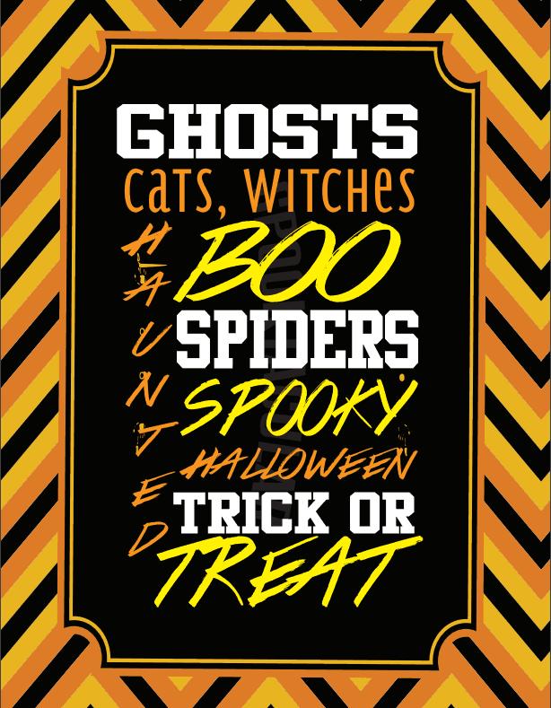 Halloween Wall Art - Halloween Words