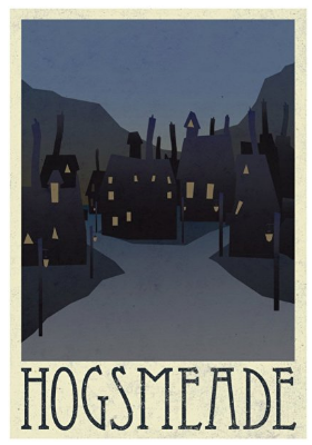 Vintage Harry Potter Hogsmeade Poster Wall Art