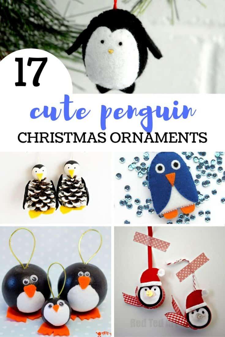 17 Cute Penguin Christmas Ornaments