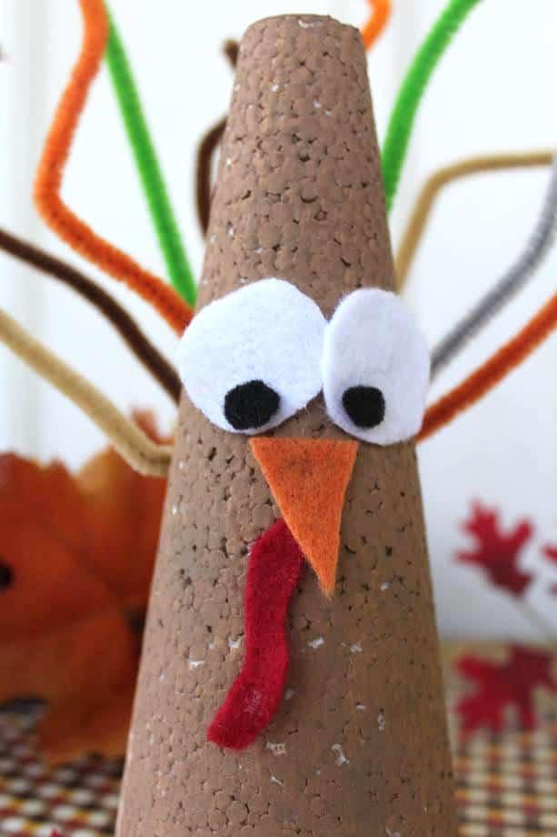 Cone Turkey Craft for Kids