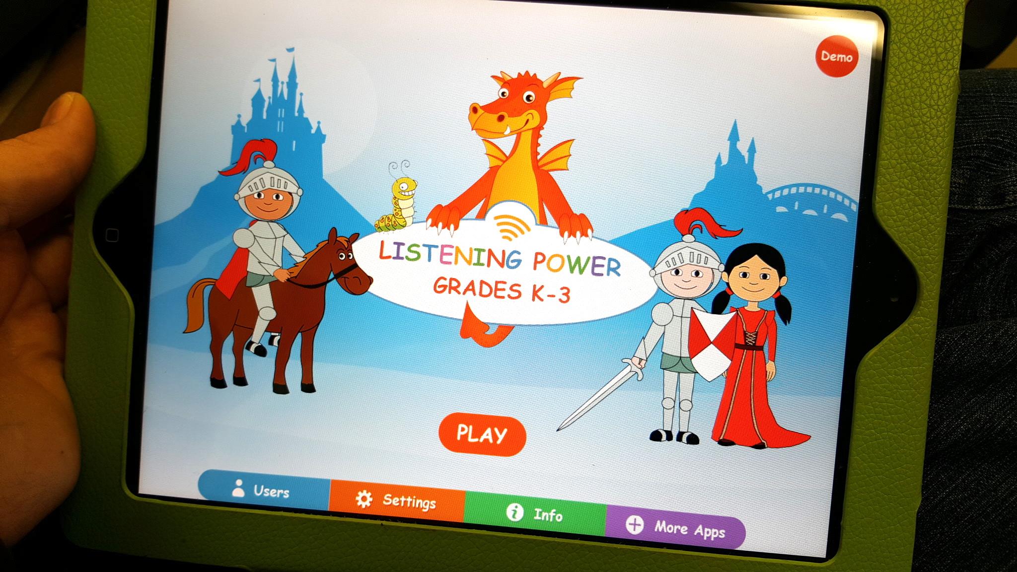 Listening Power Grades K-3 HD By Hamaguchi Apps for Speech, Language & Auditory Development