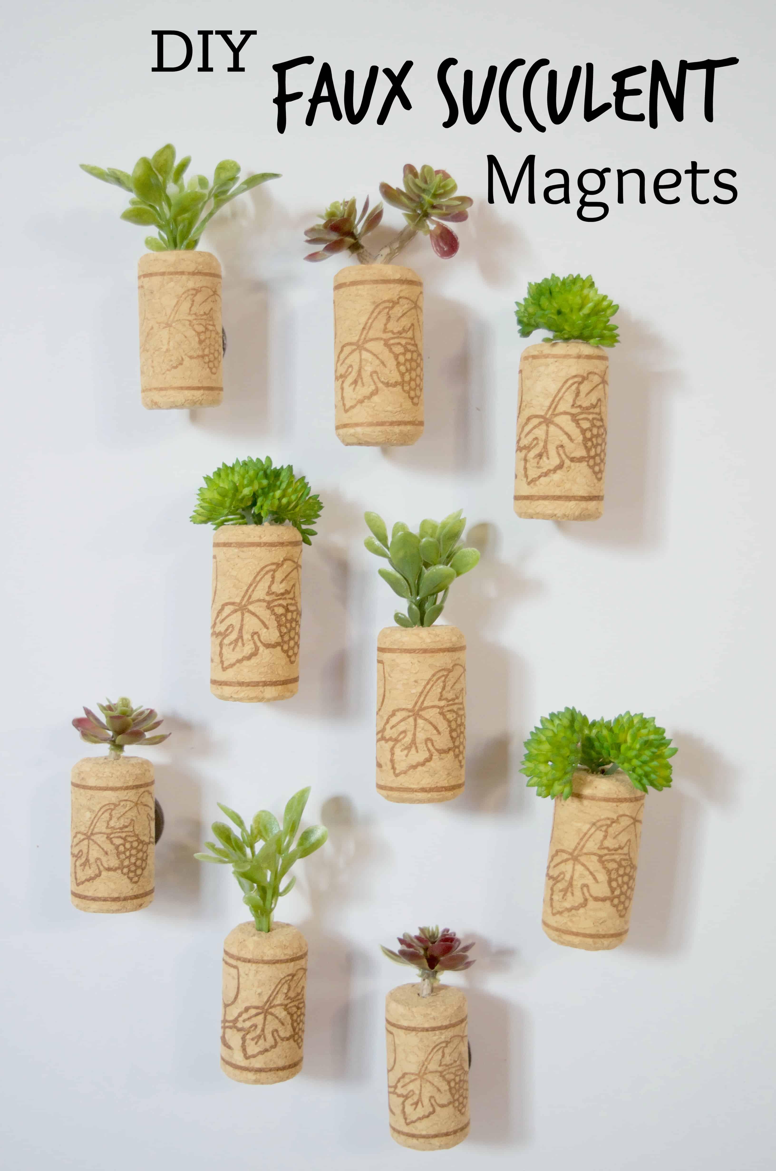 DIY Faux Succulent Magnets