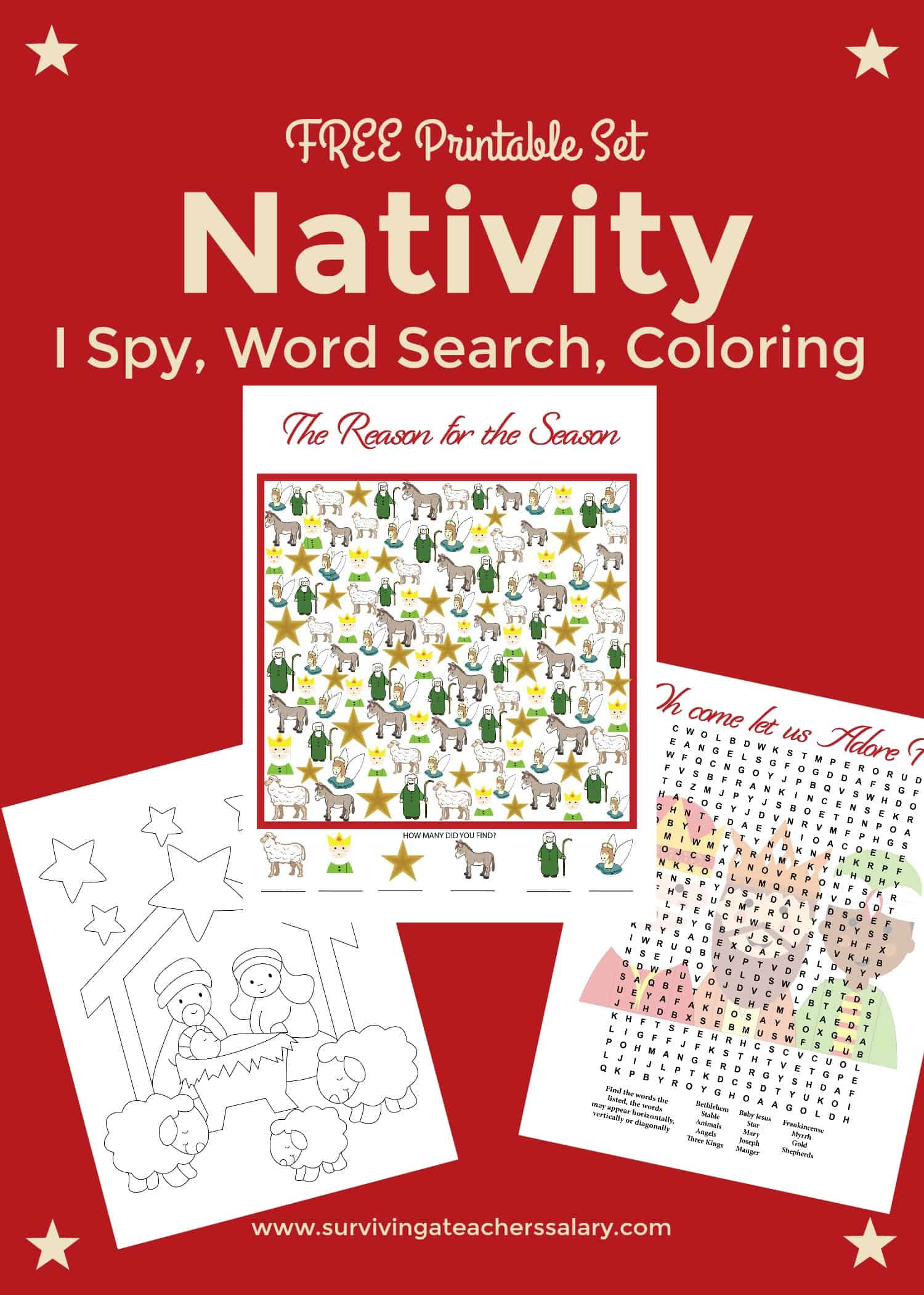 free nativity printable worksheets u0026 coloring pages