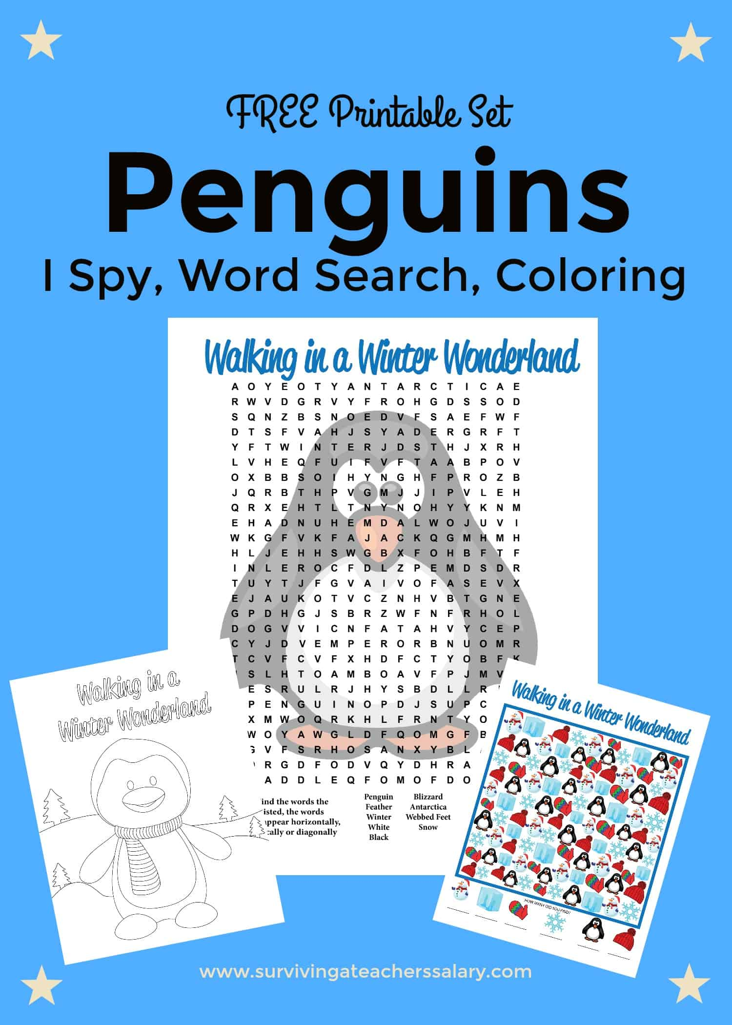 Free Printable Penguins Worksheets