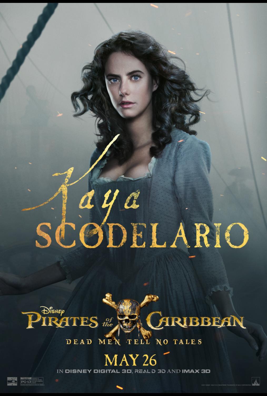 Kaya Scodelario Pirates of the Caribbean Poster