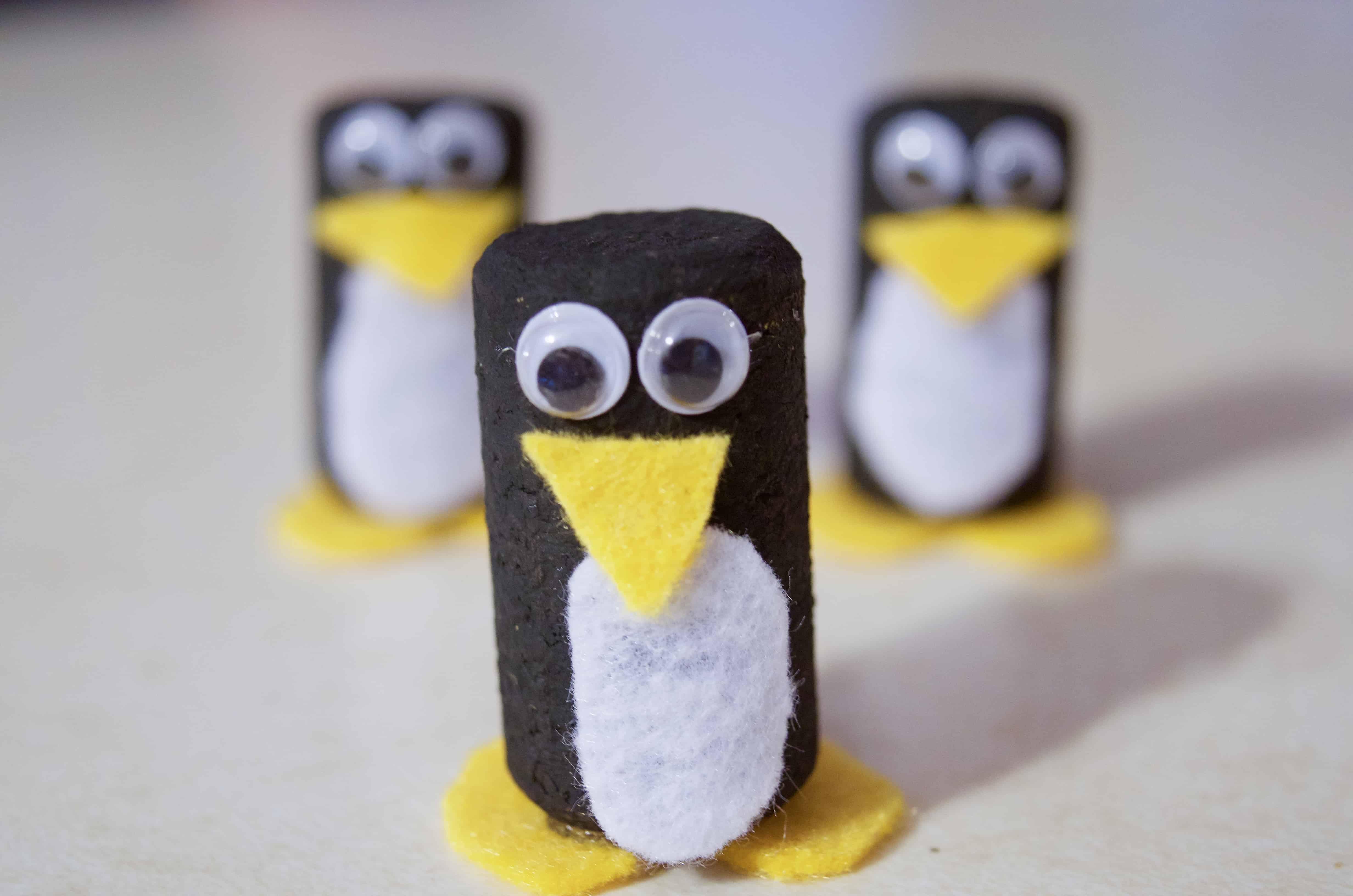 Make Your Own Winter Penguin Wine Cork Craft Tutorial