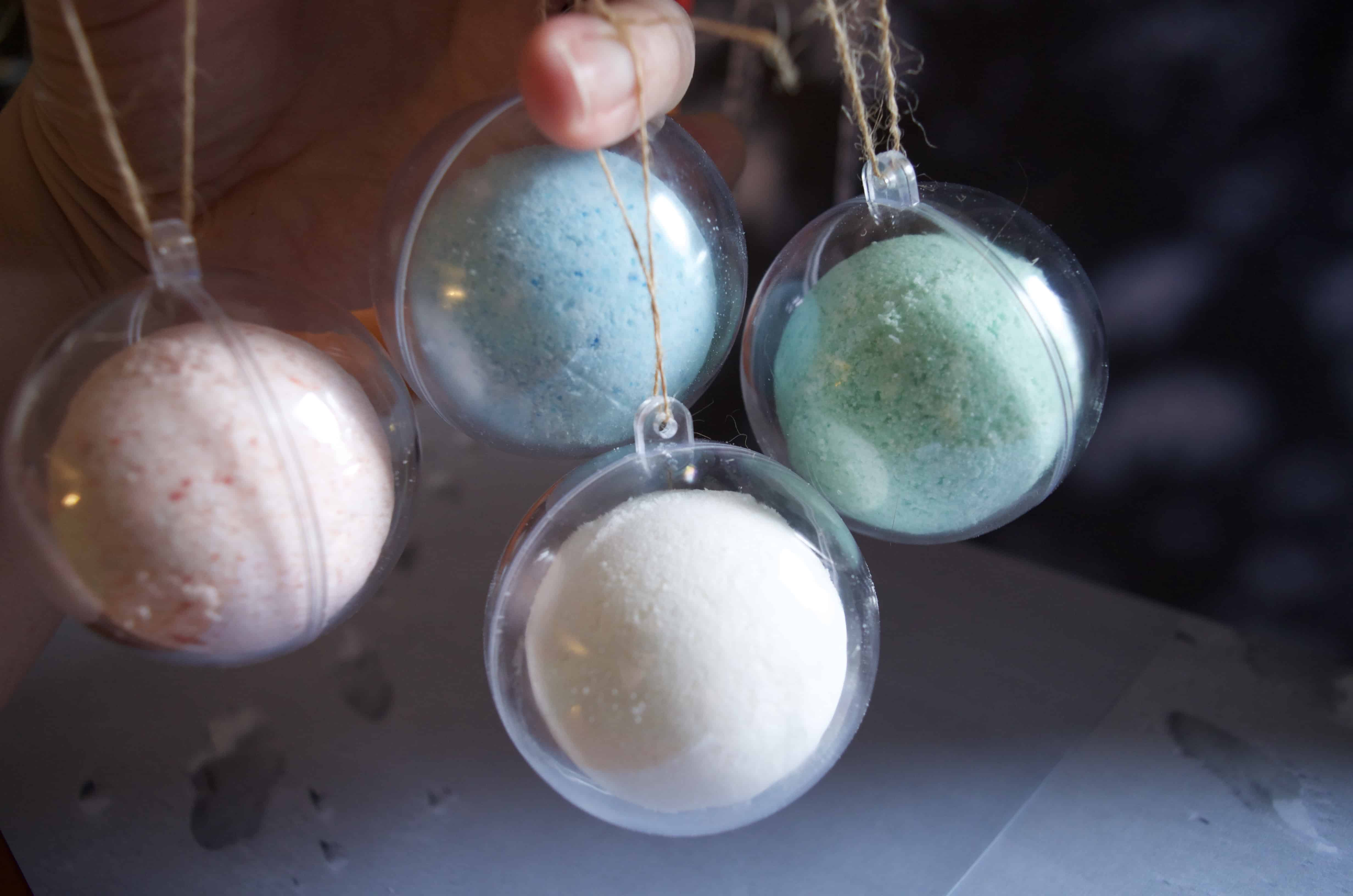 Make Your Own Bath Bomb Ornaments Tutorial