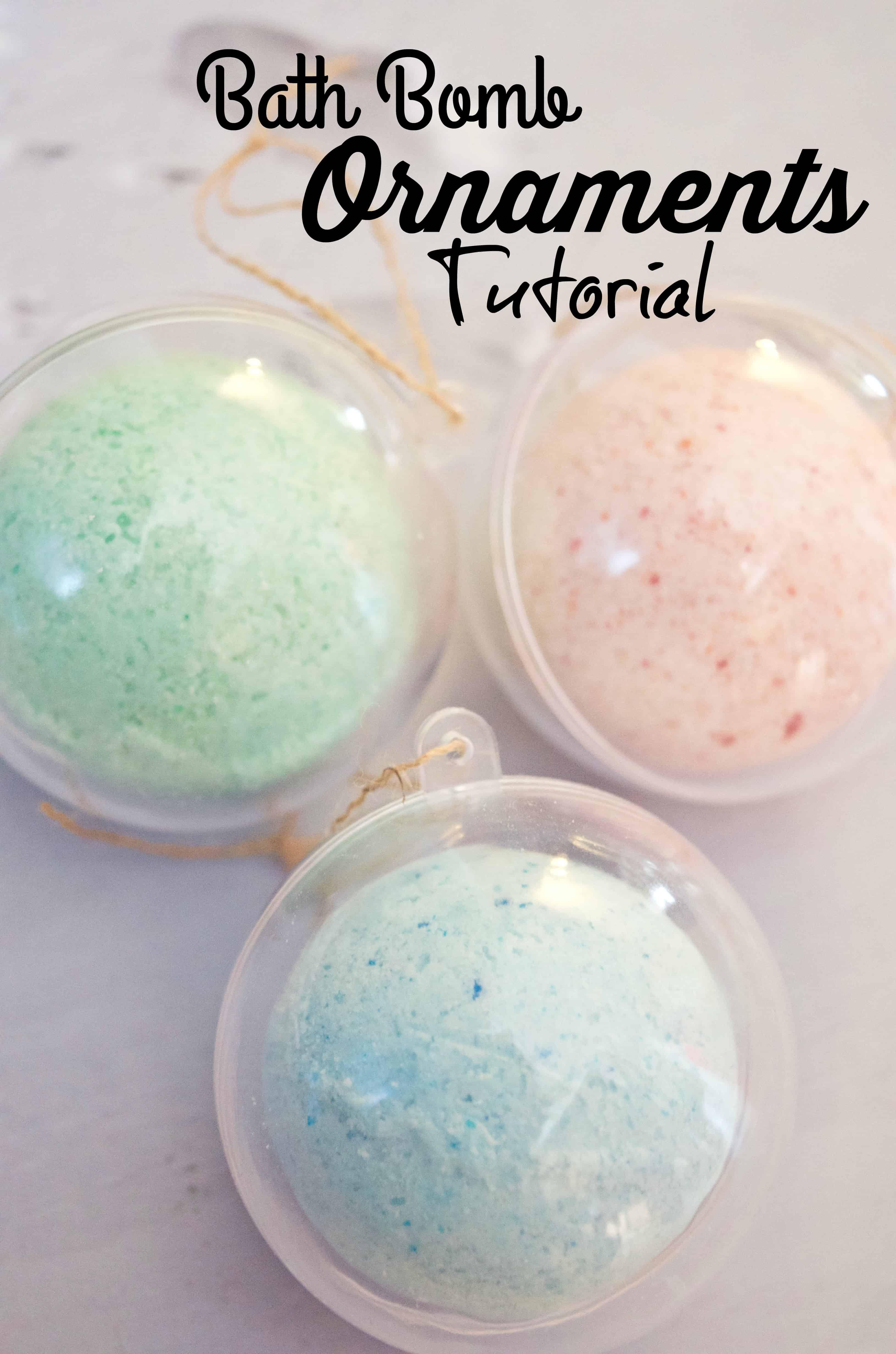Make Your Own DIY Bath Bomb Ornaments Tutorial
