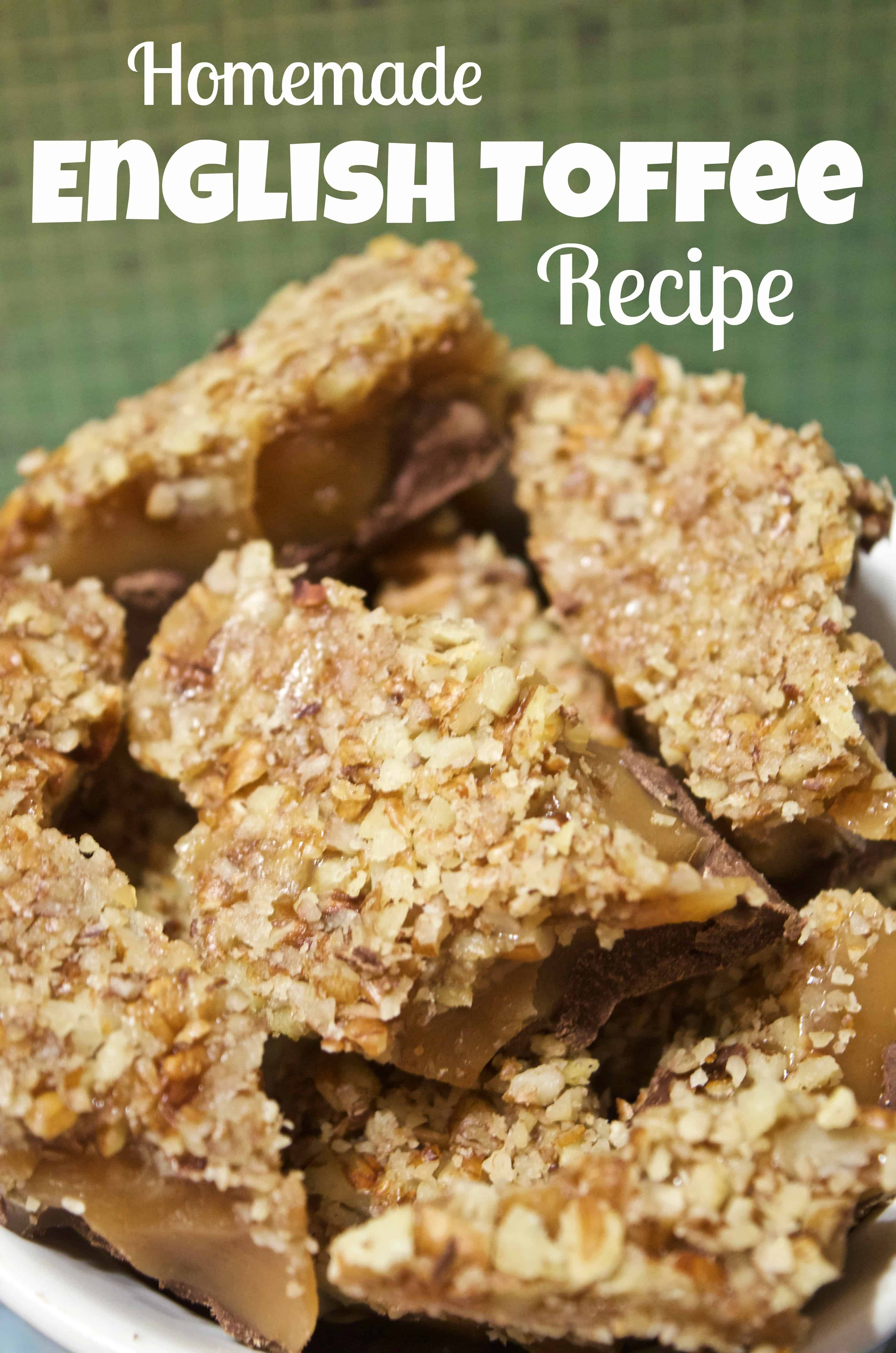 Simple Homemade English Toffee Candy Recipe Tutorial