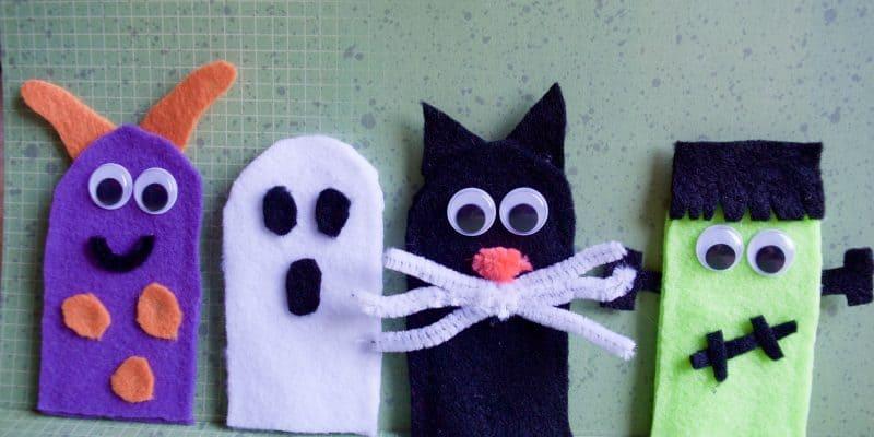 Not so Spooky Halloween No Sew Felt Finger Puppets Tutorial