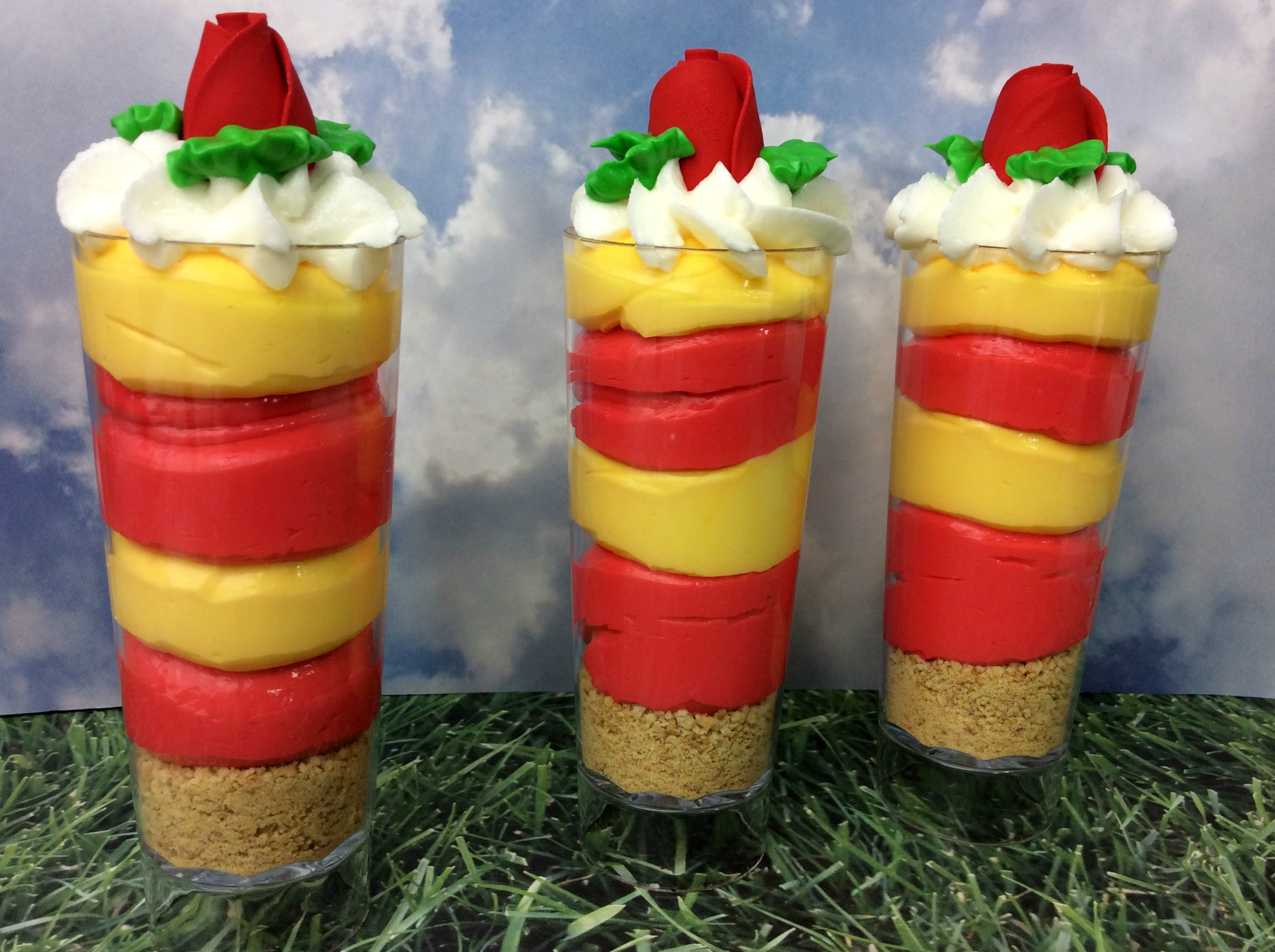 Disney's Beauty and the Beast inspired Cheesecake Shooters Recipe