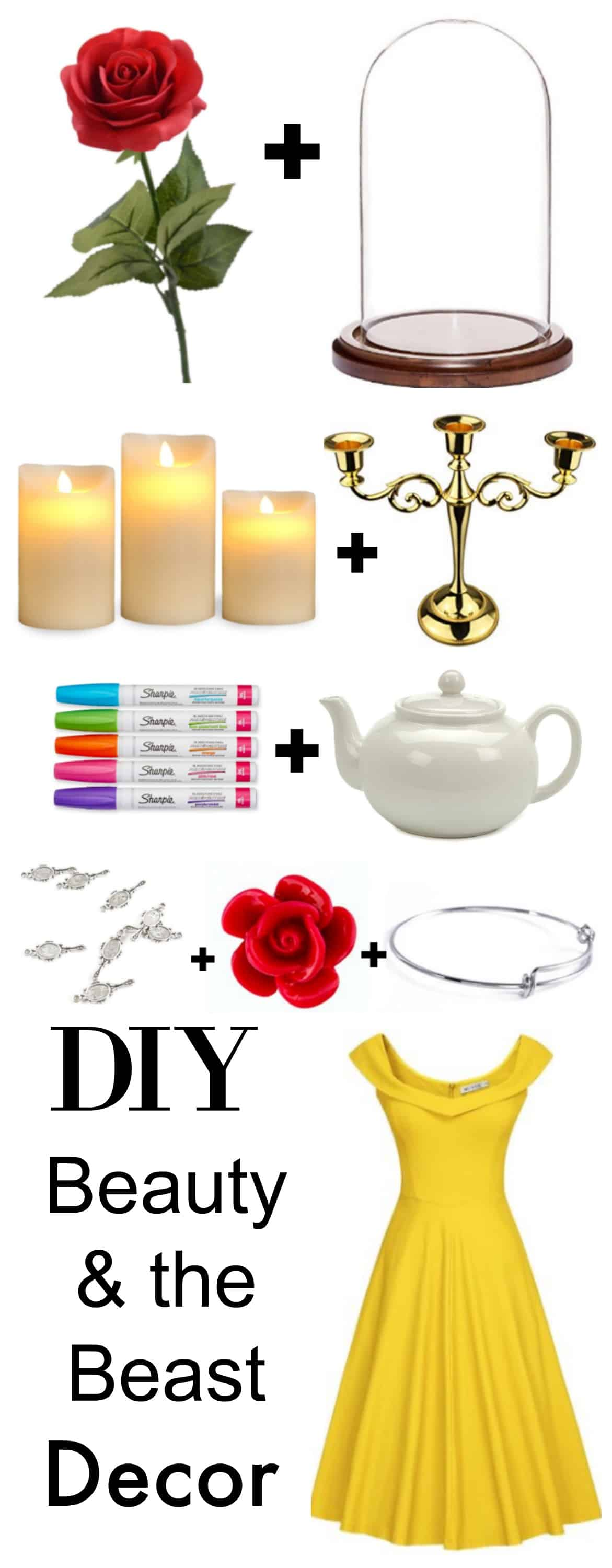 DIY Beauty and the Beast Party Decor