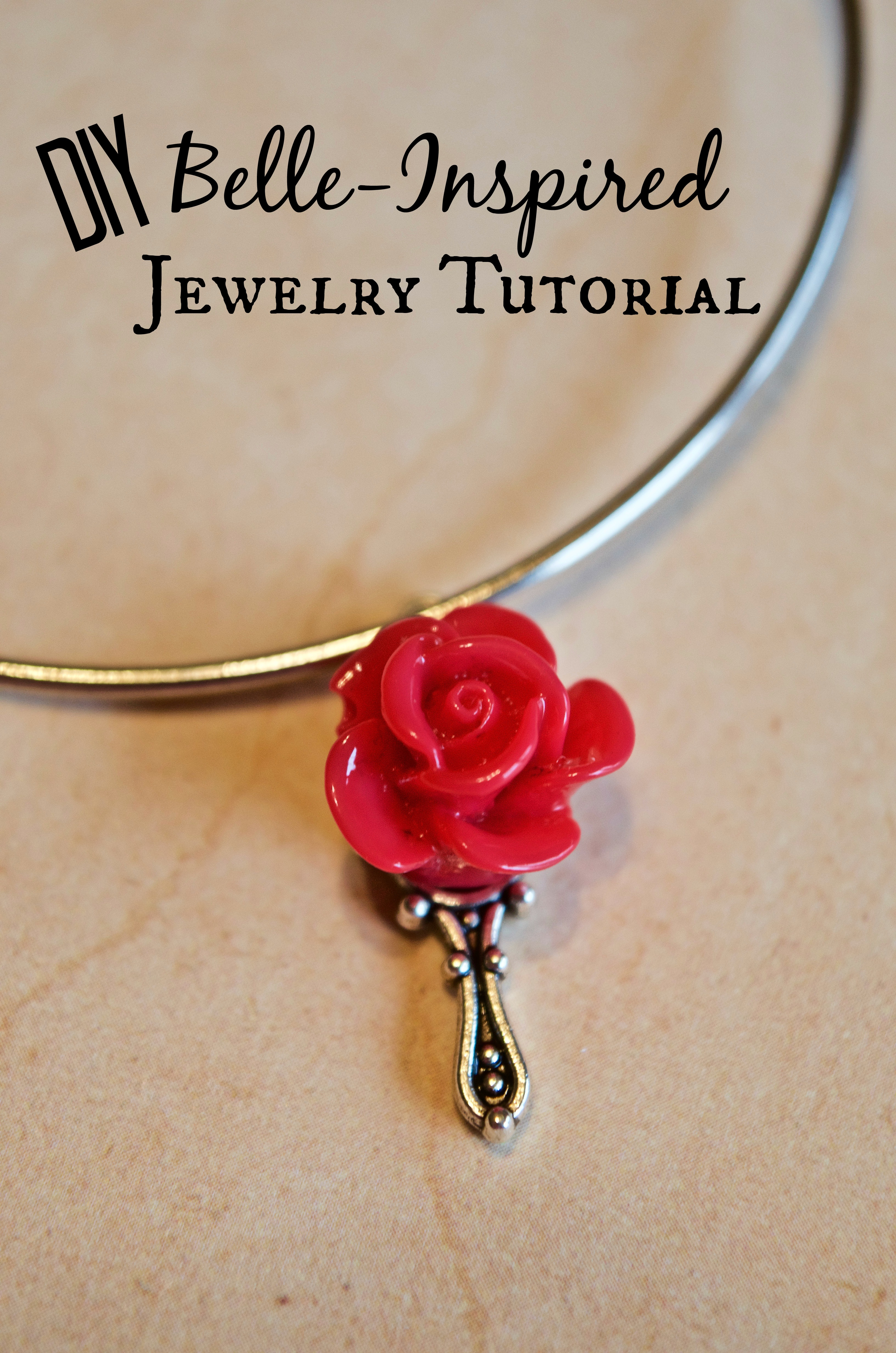 DIY Belle Inspired Beauty & the Beast Jewelry Tutorial