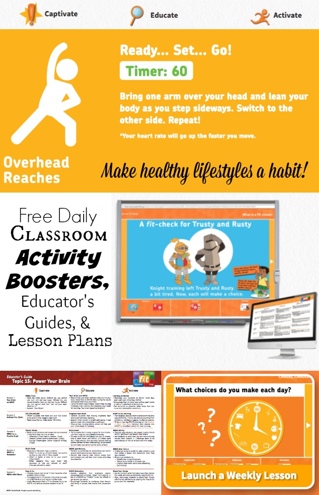 FREE Activity Boosters & Classroom Resources for a Healthy Lifestyle