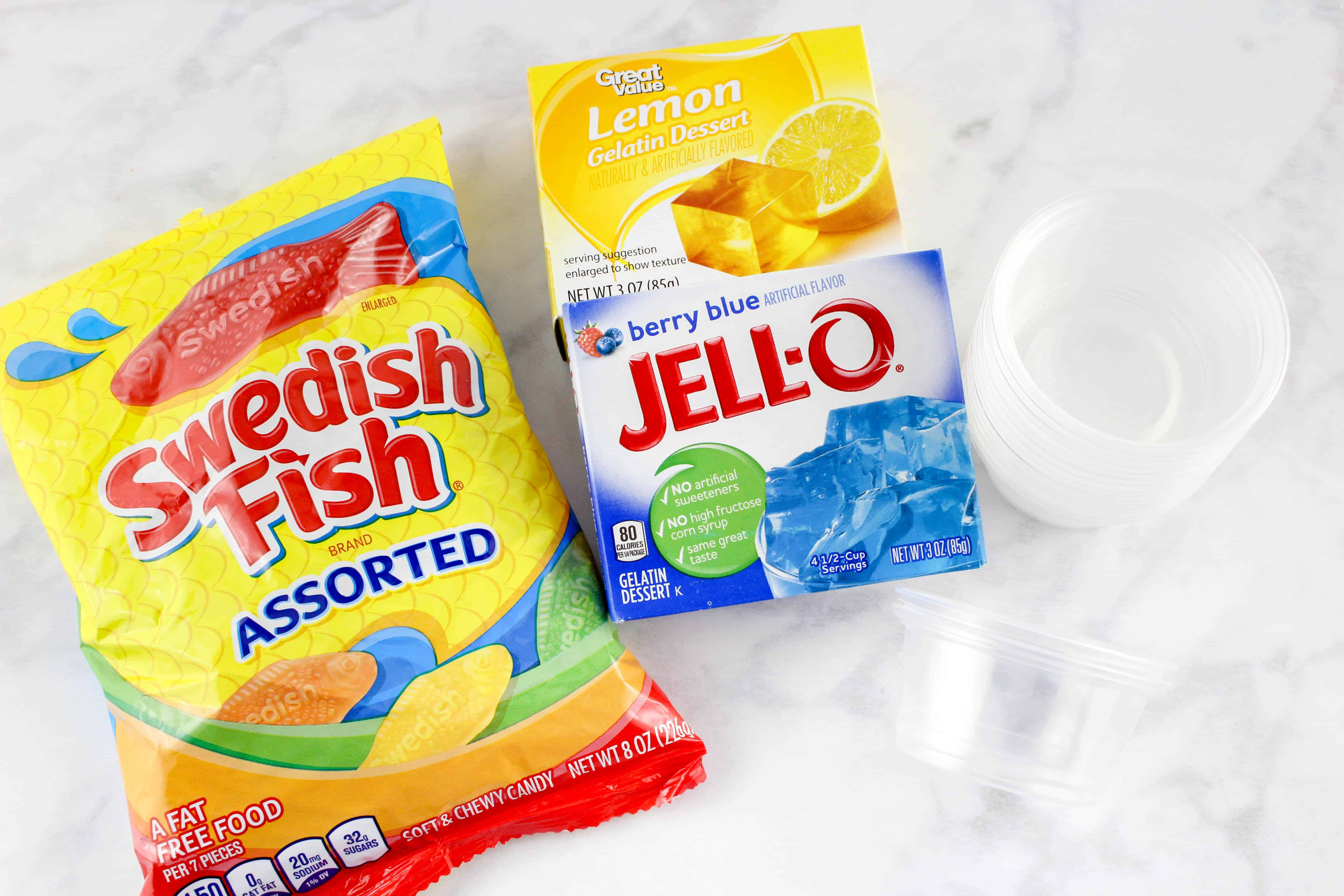 One Fish Two Fish Jello Cups Recipe for Dr. Seuss Day Celebrations