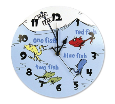 Dr Seuss One Fish Two Fish clock