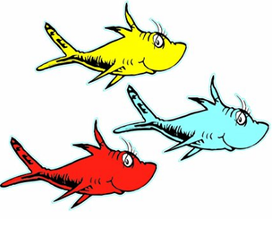 One Fish Two Fish Classroom Dr Seuss Cut Outs