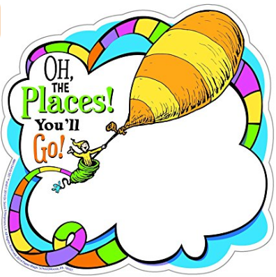 Dr Seuss Oh the Places You'll Go Classroom paper Cut Outs Bulletin Boards