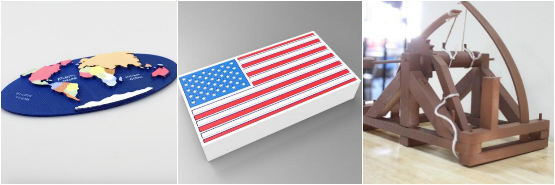 History, Geography & Landmarks, & Politics 3D Printing Models