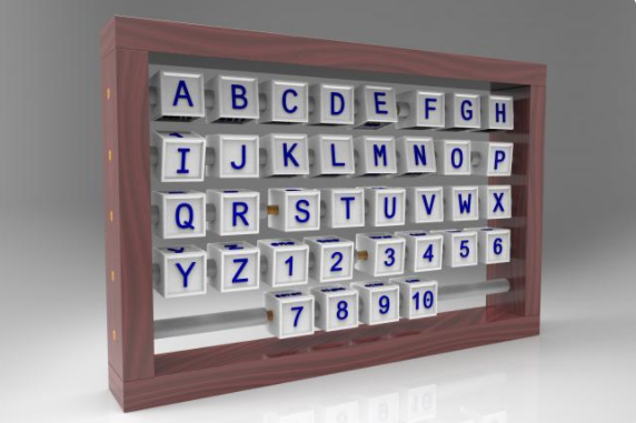 Alphabet Letter Abacus 3D Printing Model for Classrooms