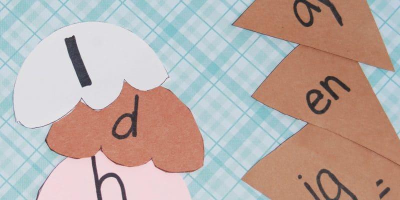 Summer Kid's Activity: Ice Cream Word Families Literacy Game