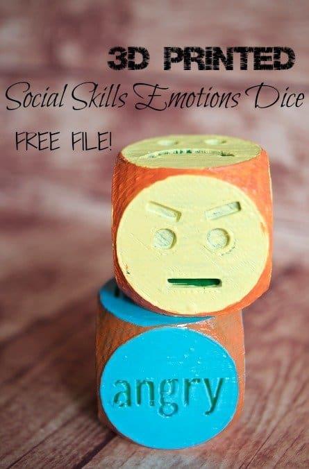 3D Printed Social Skills Emotions Dice