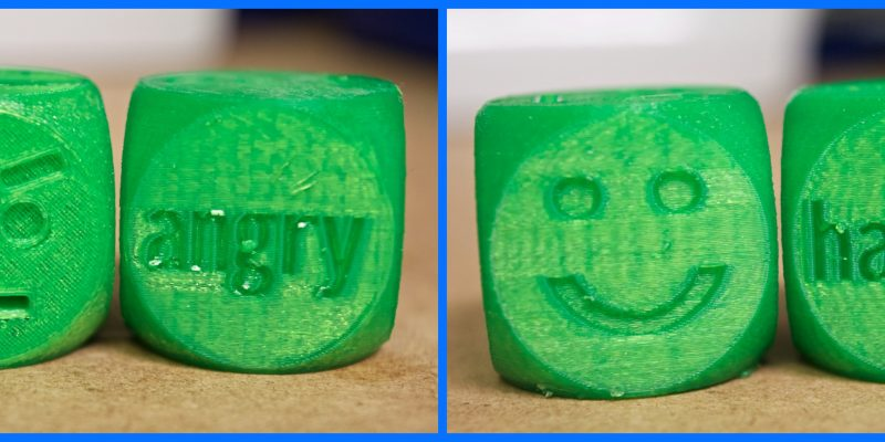 3D Printed Social Skills Emotions Dice Game for Children with Autism