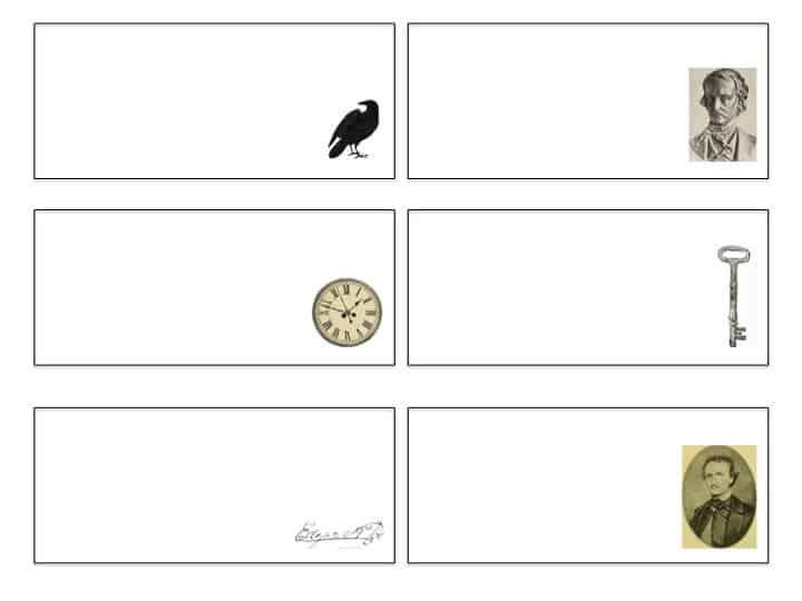 Edgar Allen Poe Poetry Mashup Game Printable