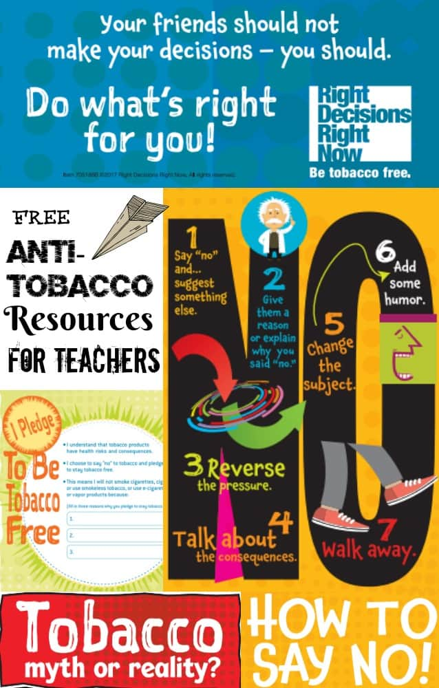 Anti-Tobacco Resources for Middle School Teachers
