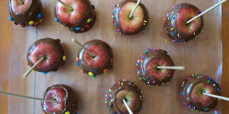 Easy Gourmet Chocolate Dipped Apples Homemade Recipe