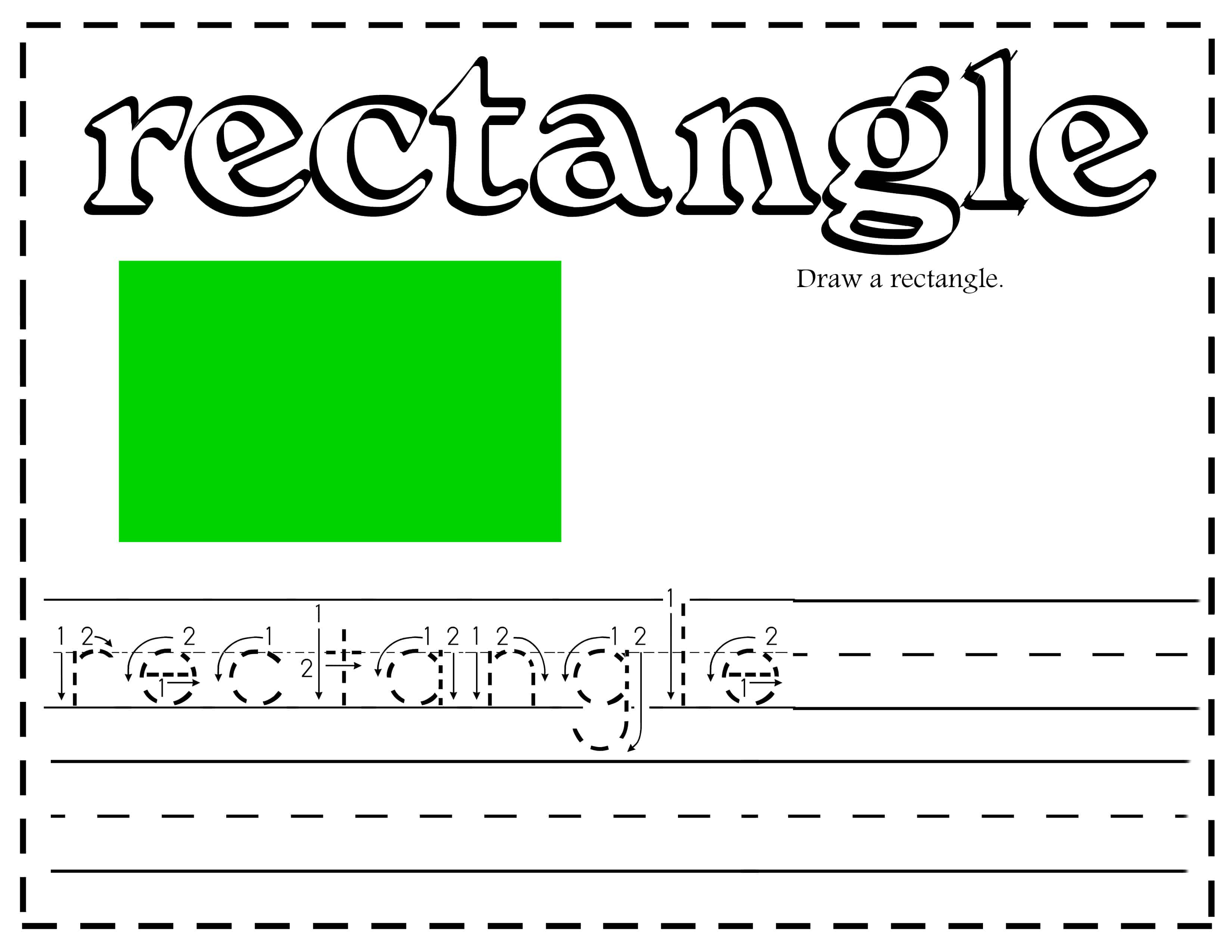Free Shapes Handwriting Printable Worksheets Activities