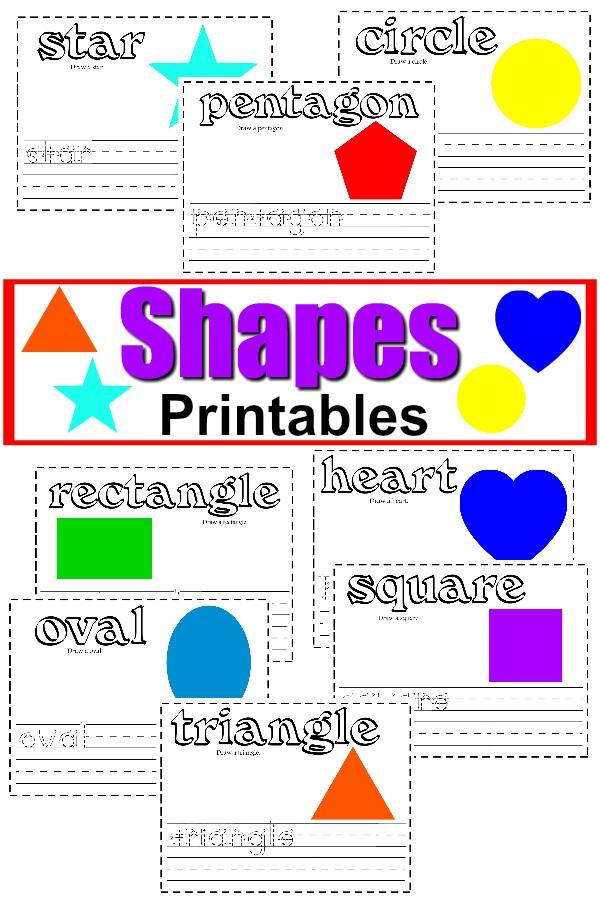 free shapes handwriting printable worksheets activities. Black Bedroom Furniture Sets. Home Design Ideas