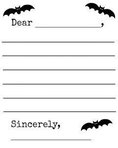 Bat writing template