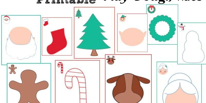Free Printable Christmas Play Dough Sensory Mats