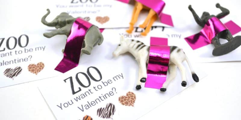 """""""Zoo You Want to be My Valentine?"""" FREE Printable Valentine's Day Card"""