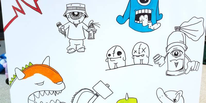 How to Make Your Own Graffiti Art Canvas Home Decor for Kids Bedrooms