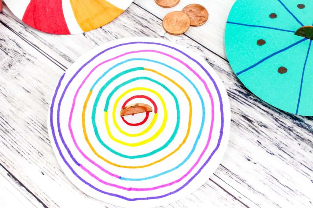 Make your own lucky penny spinner fine motor skills art for Create your own penny