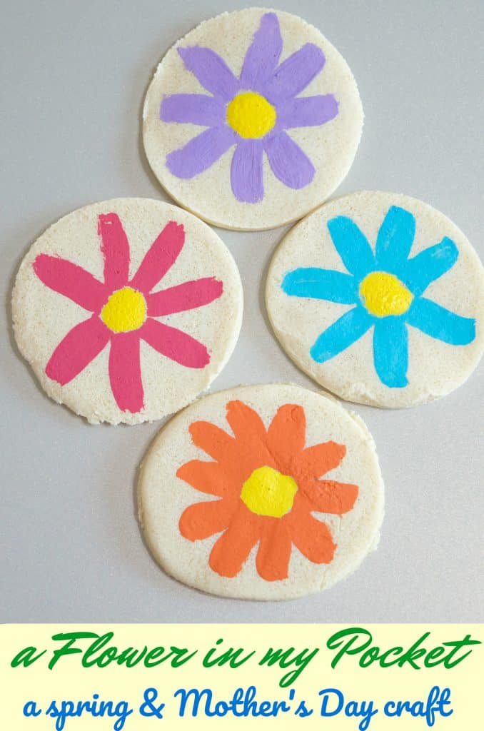 Salt Dough Recipe Flower in my Pocket (Mother's Day Activity)