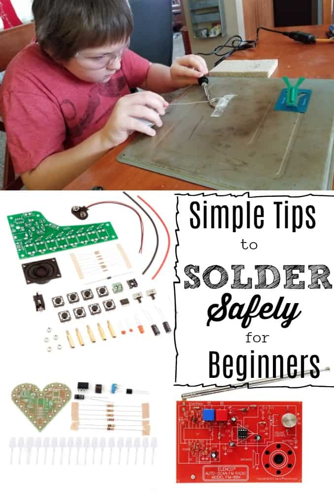 solder kit and boy soldering